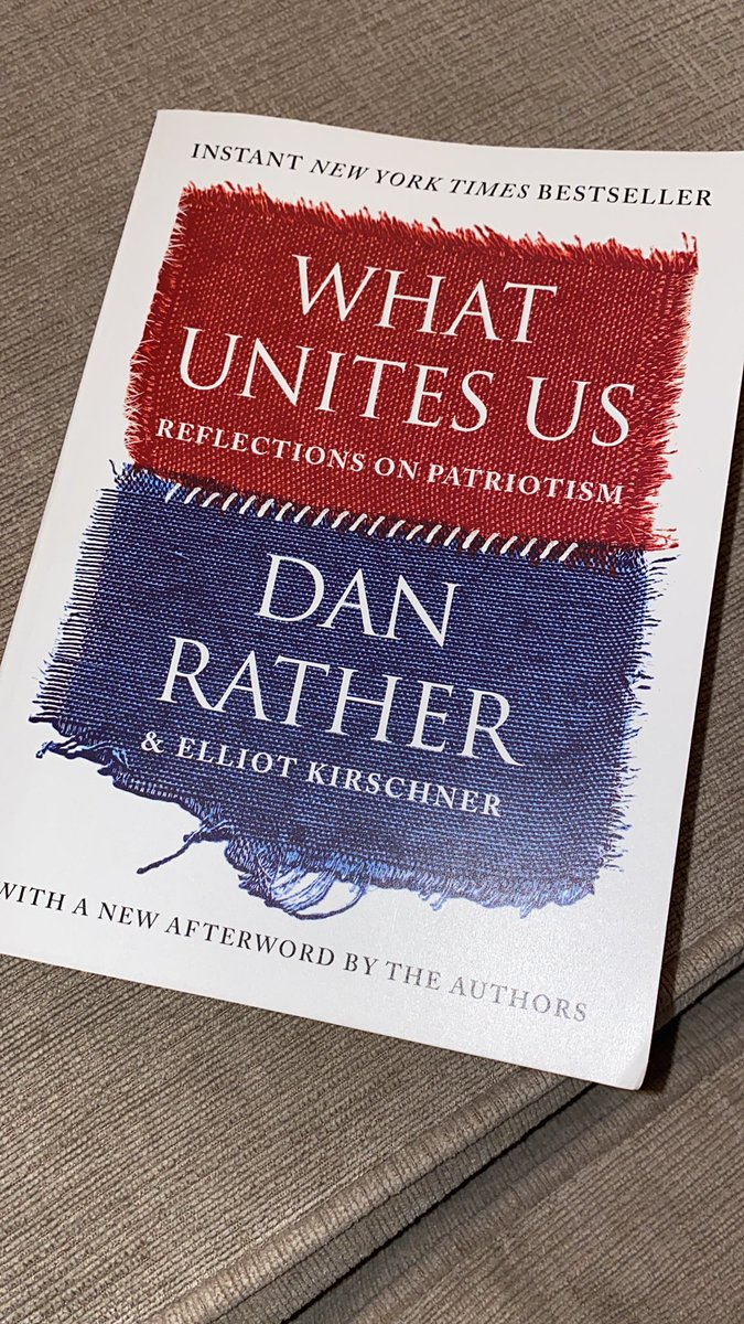 Finishing up @DanRather book #WhatUnitesUs and the Steady chapter has been like balm for the soul. The last four years have been harrowing...and yet we were steady.