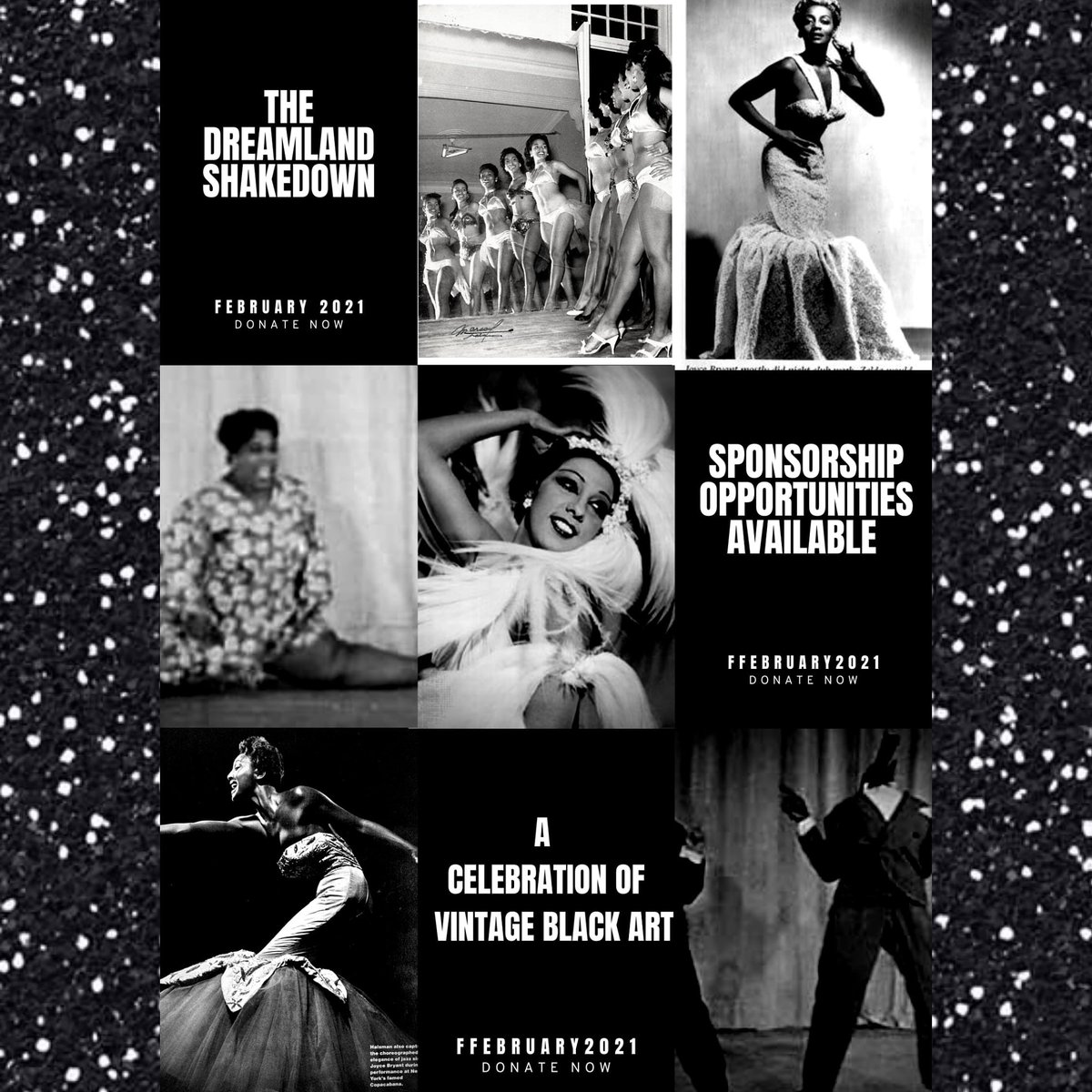 I can barely sleep at night bc I want this to be such a magical event #BlackHistoryMonth #BlackTwitter #BlackHistory #burlesque #vintage #pinup #blackculture #dreamlandballroom