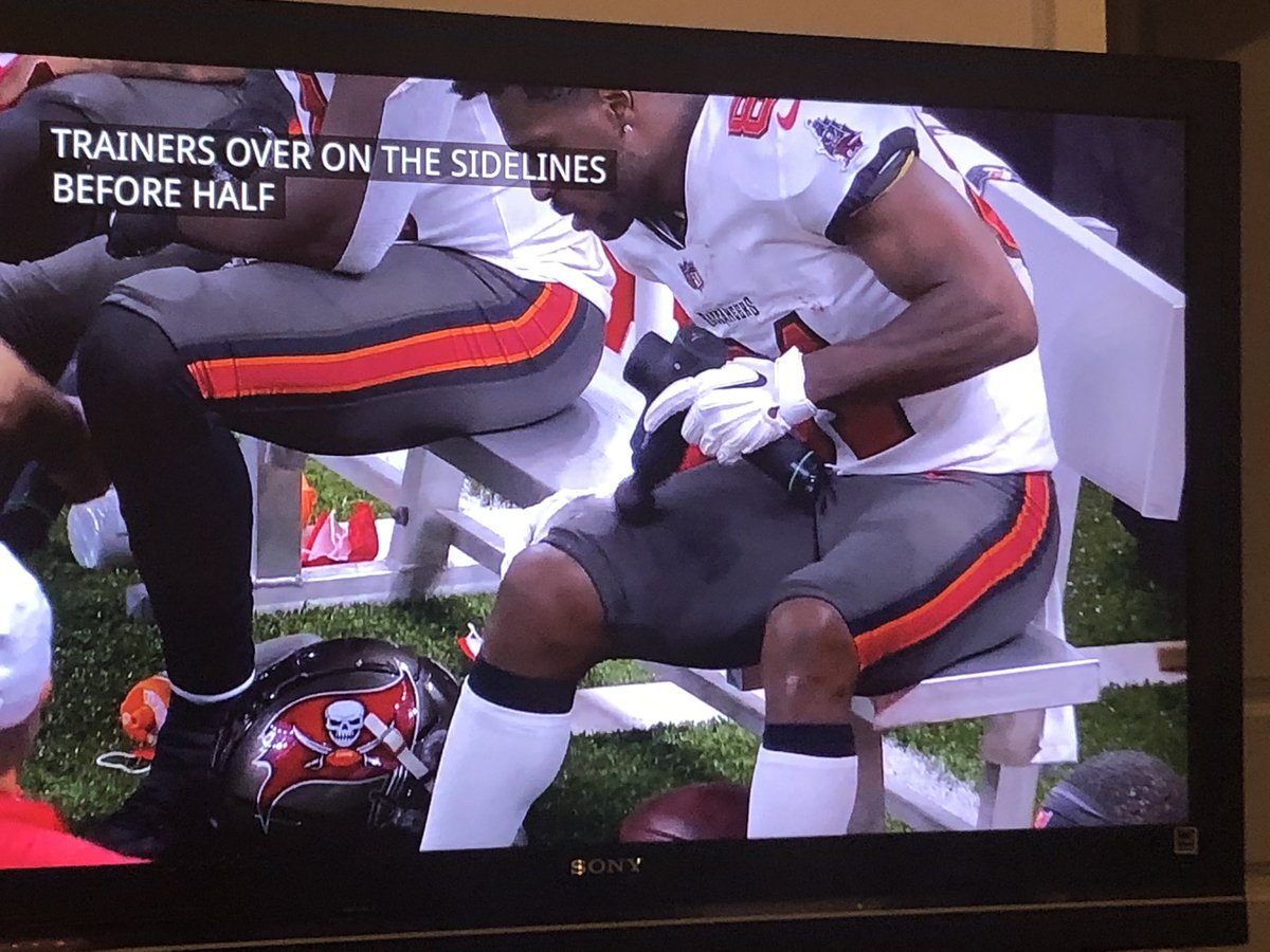 .@Hyperice getting some shine during today's #TBvsNO game