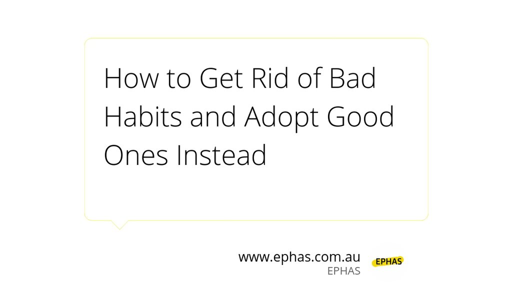 If we do not actually want to get rid of bad habits, we never will.  Read more 👉   #habits #badhabits