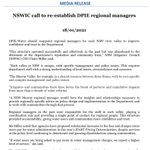 Image for the Tweet beginning: MEDIA RELEASE: NSWIC call to