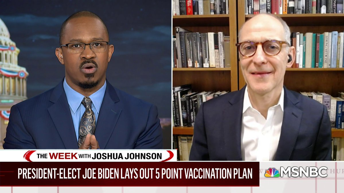 .@ZekeEmanuel, who is a member of President-Elect Biden's COVID-19 Advisory Board, predicts when the average American will notice a difference in the vaccine rollout under the Biden Administration: