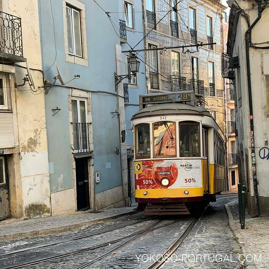 test ツイッターメディア - 細い道をギリギリで走り抜けるリスボンの路面電車。 #ポルトガル #リスボン https://t.co/I49LQT0SFJ