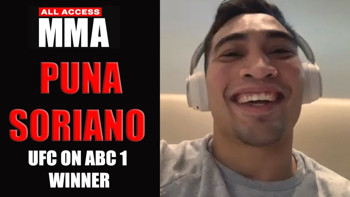 #UFConABC1 winner Puna Soriano (@puna185) talks ...   ✅ 1st round TKO win over Dusko Todorovic ✅ Fighting during same time as Khabib announcement  ✅ Fessy's double-cross on @ChallengeMTV   Full interview via @AllAccessMMA247 🎙️   https://t.co/Xgo76BR7ZF https://t.co/NOpKTvbYEq