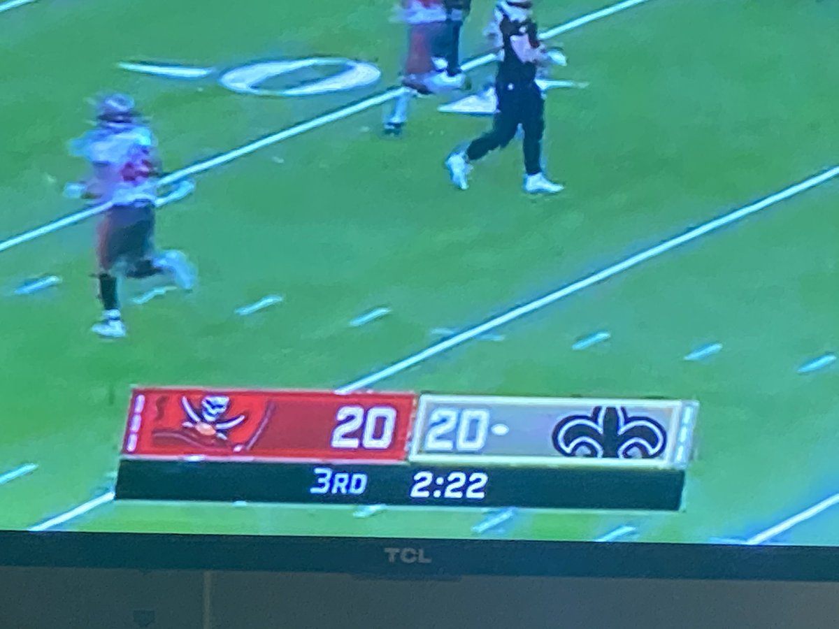 I'm having PTSD.  #Score   #NFLPlayoffs #saints #Bucs #2020isoverparty