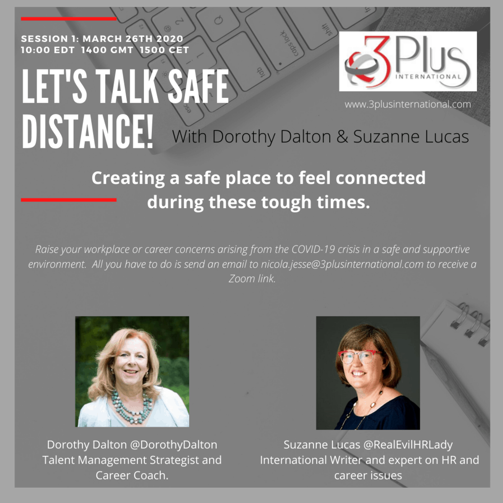 We are here to help you feel connected during these difficult times with our podcast series.  In this one, we have a #SafeDistance #PowerCoaching session, filled with #workplaceconcerns and #solutions    with @DorothyDalton and @RealEvilHRLady   #podcast