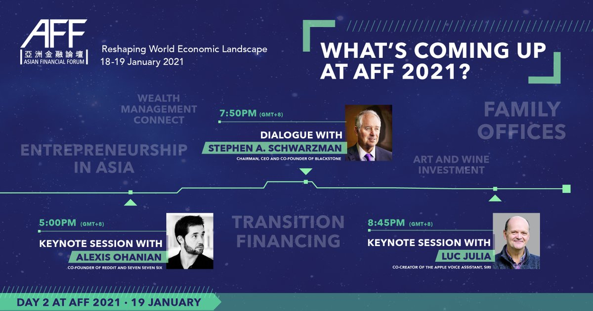 Join us online tomorrow for more #AFF 2021 as we are joined by @alexisohanian, Stephen A. Schwarzman and Luc Julia on Day 2 of Asia's largest financial conference, exploring innovation and opportunity in 2021. Register here: https://t.co/g59L1uBsv5 https://t.co/tcewCM7Ird