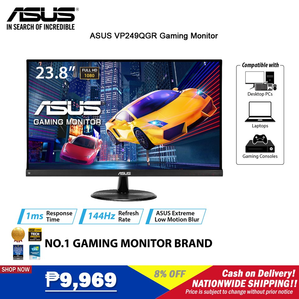 ‼️ASUS VP249QGR 23.8 Gaming Monitor‼️ 🛒SHOP NOW!➡  🛒SHOP NOW!➡  ₱9,969  🚚Cash on Delivery 🚚Nationwide Delivery  **Price is subject to change without prior notice  #asus #LazadaPH #LazadaxKathryn #LazadaxLMH  #NasaLazadaYan
