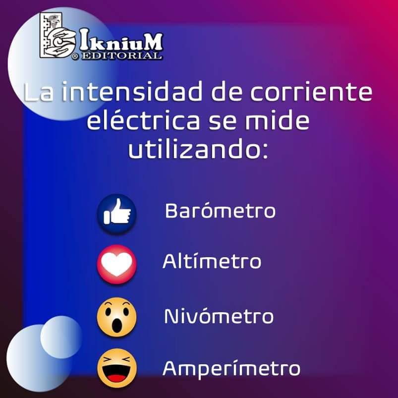 #Trivia #intensidad #corriente #eléctrica #medir #Entretenimiento #conocimiento #educación #cultura #curiosidad #iknium #👍🏼 #👀 #😲 #❤️ #😢 #🙂 #🧐 . @iknium.COMIPEMS              @iknium.UNAM