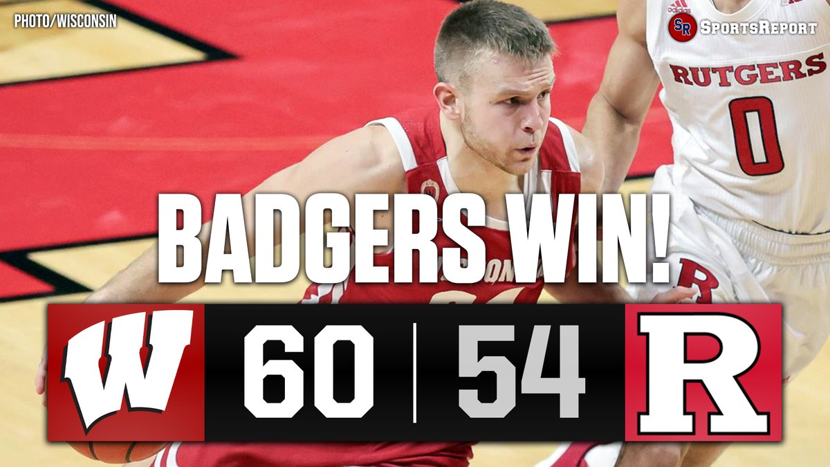 #BADGERS WIN!!! #Wisconsin improves to 11-3 overall and 5-2 in the Big Ten!!