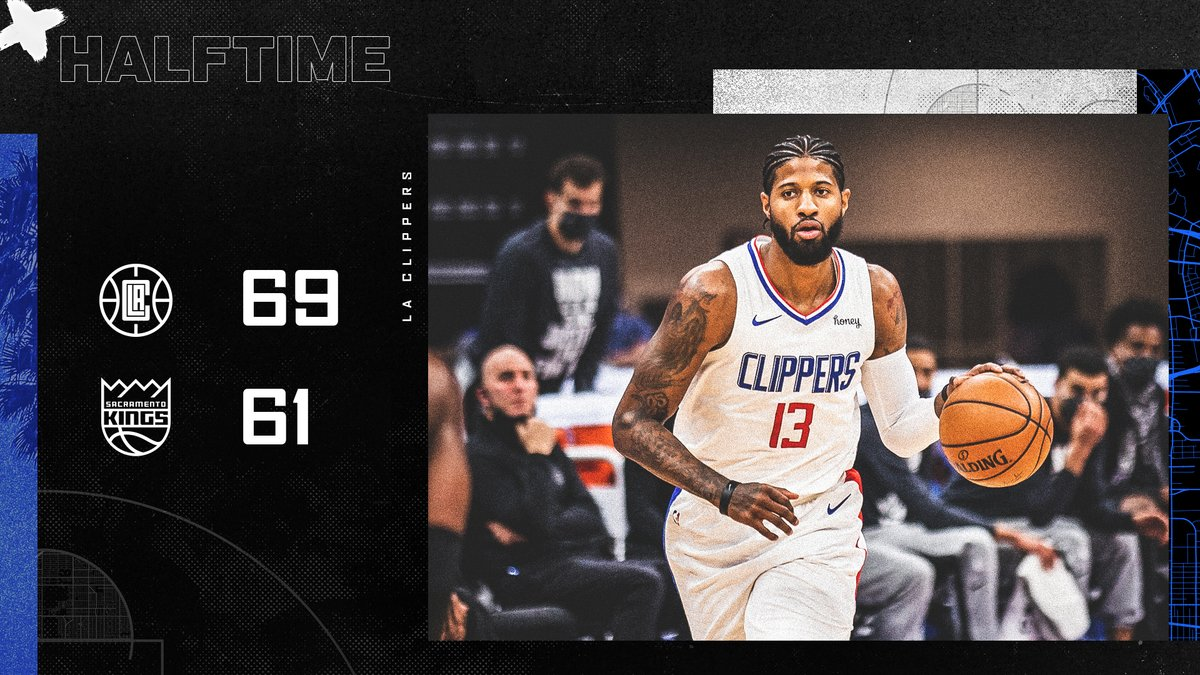 +8 at the break.  📺 @FoxSportsWest | #ClipperNation https://t.co/cTR9Ccd3Of