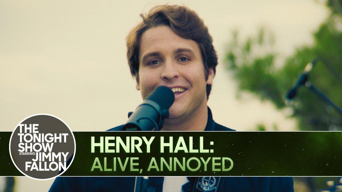 "🎶 #FallonTonight Music Break 🎶  @henryhallmusic makes his TV debut with a performance of ""Alive, Annoyed""  ▶️"