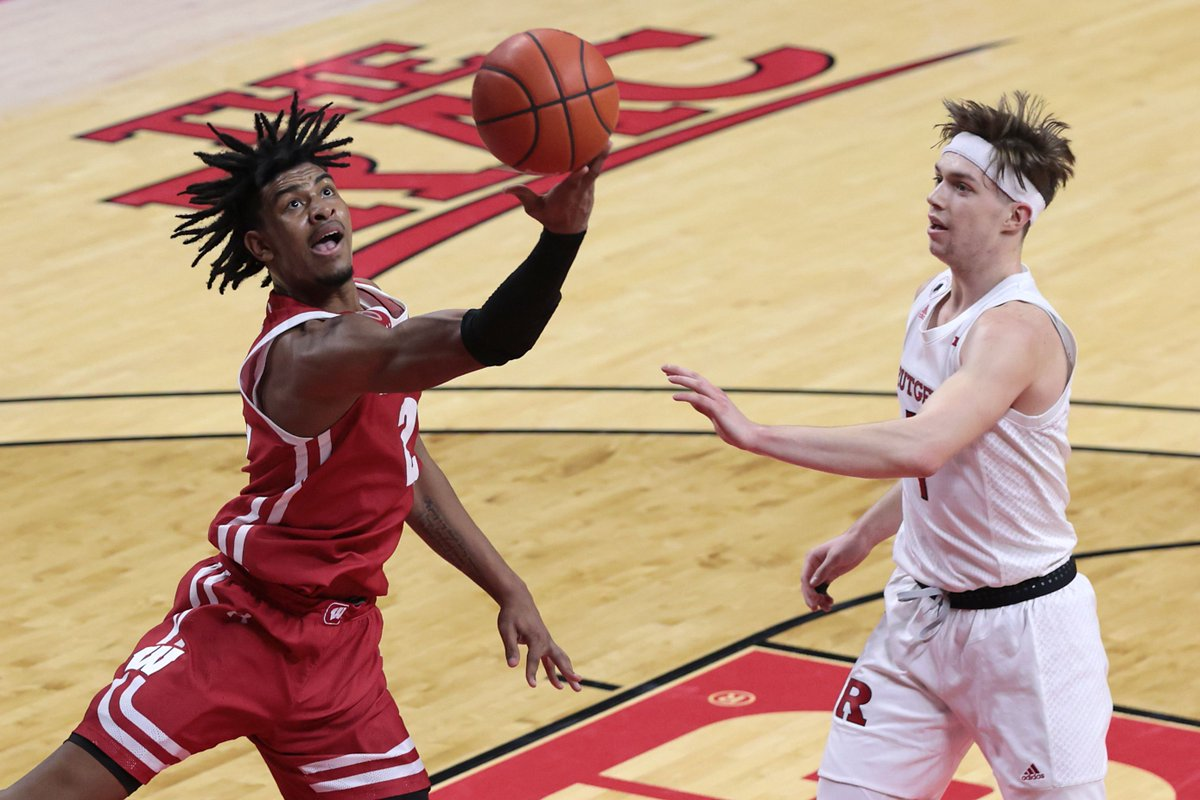 The #Badgers secure their first win in The RAC in program history in gritty fashion 60-54 to move to 11-3 overall and 5-2 in B1G play.   Wisconsin men's basketball: Rutgers recap