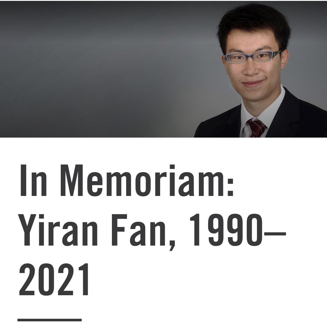 My thoughts go out to Yiran's family, he was senselessly killed in Chicago, the #NRABankruptcy gives me hope that maybe we can do something about #GunControl in #America   How will our universities continue to attract the best talent in the world if we can't keep them safe?