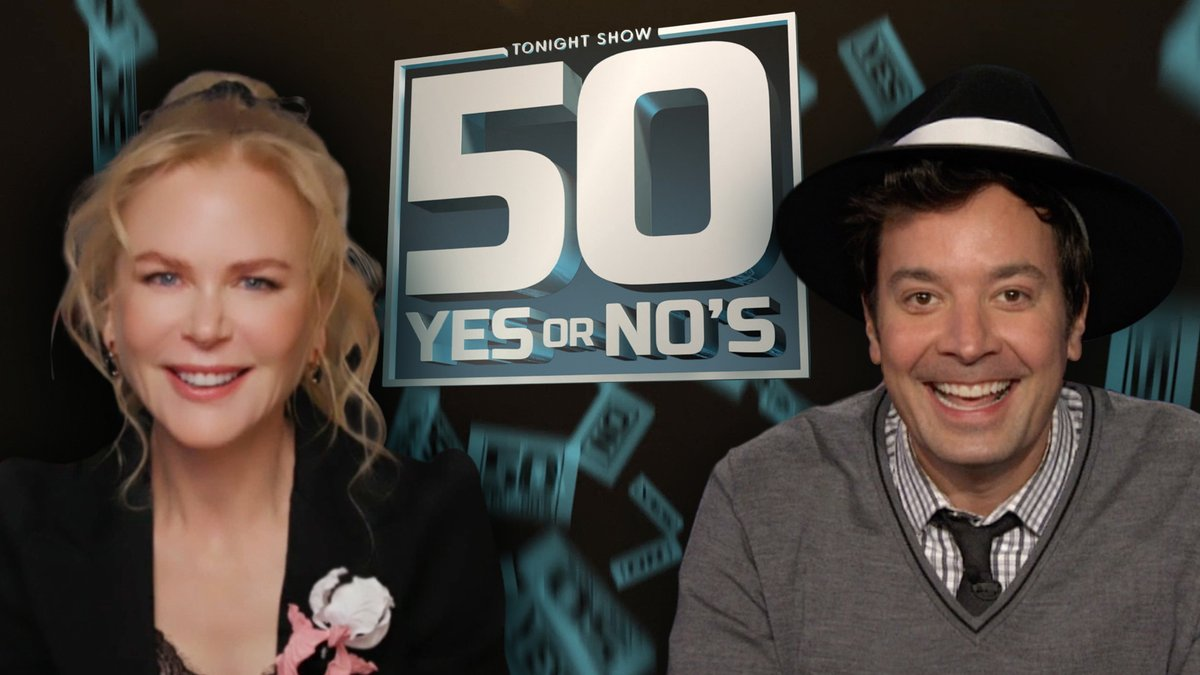 Jimmy: Is Mario Kart a good game to play on a first date? Nicole Kidman: You tell me...  Watch the full 50 Yes or Nos 👉