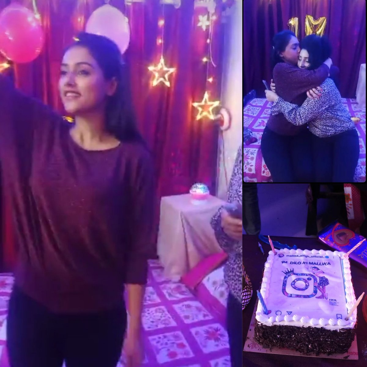 Her happiness is our success ❤️✨ #MallikaSingh #1mdilonkimallika