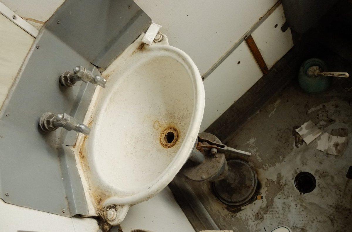 @GrimArtGroup grim #toilet realities on the #Soviet era train from Kyiv to Odessa in the #Ukraine