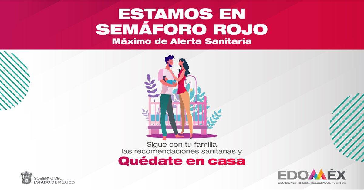 Para proteger la salud de tu familia, es necesario seguir las medidas sanitarias. #EdoméxEnSemáforoRojo  #QuédateEnCasa #CuidemosTodosDeTodos  @alfredodelmazo @Edomex