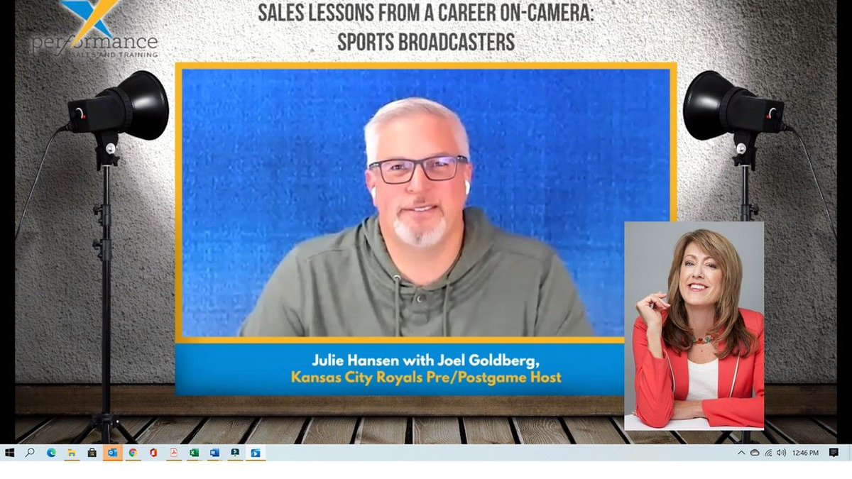 What do salespeople & sports broadcasters have in common? Building strong relationships & communicating effectively on-camera! Learn their secrets in my interview with Joel Goldberg, @goldbergkc pre/postgame host for the Kansas City Royals  #video #sales