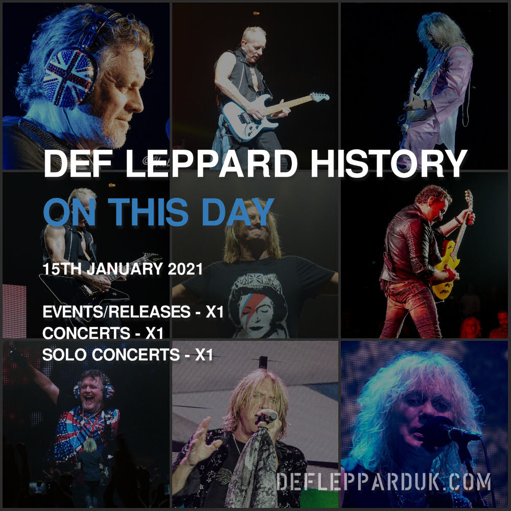 On This Day In #DEFLEPPARD History - 15th January #history #philcollen #euphoria #thinlizzy #onthisday   On This Day in Def Leppard History - 15th January, the following concerts and events took place.