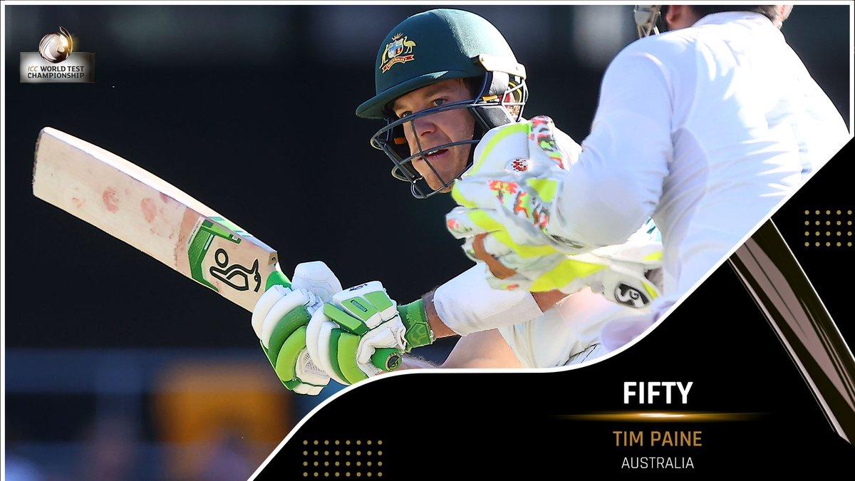 A captain's knock building for Tim Paine and Australia 📈  #AUSvIND |