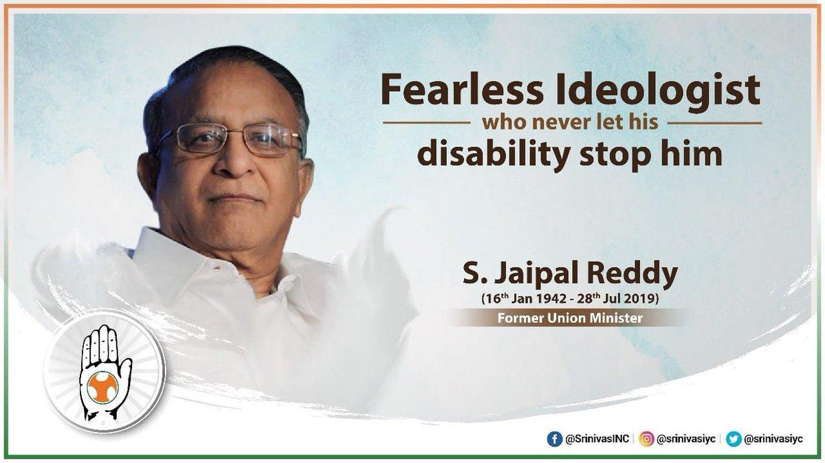 Bow to socialist background veteran Congress leader Shri Jaipal Reddy ji on his Birth anniversary. #JaipalReddy