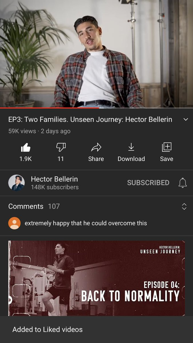 Loving these at the minute... what a player and what a guy @HectorBellerin ❤️🙌 #UnseenJourney