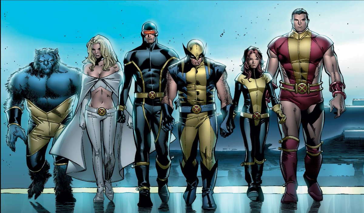 one of my favorite comic art of all time, just a bad ass drawing from House of M #1 the #XMen arriving at #Avengers tower  #WandaVision