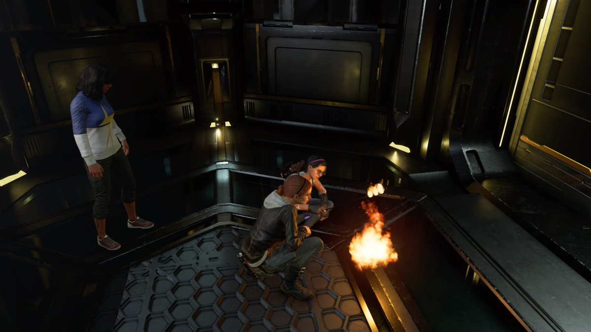 Kate and Natasha Having a Campfire in the Elevator. #PlayAvengers #Avengers #PS4share