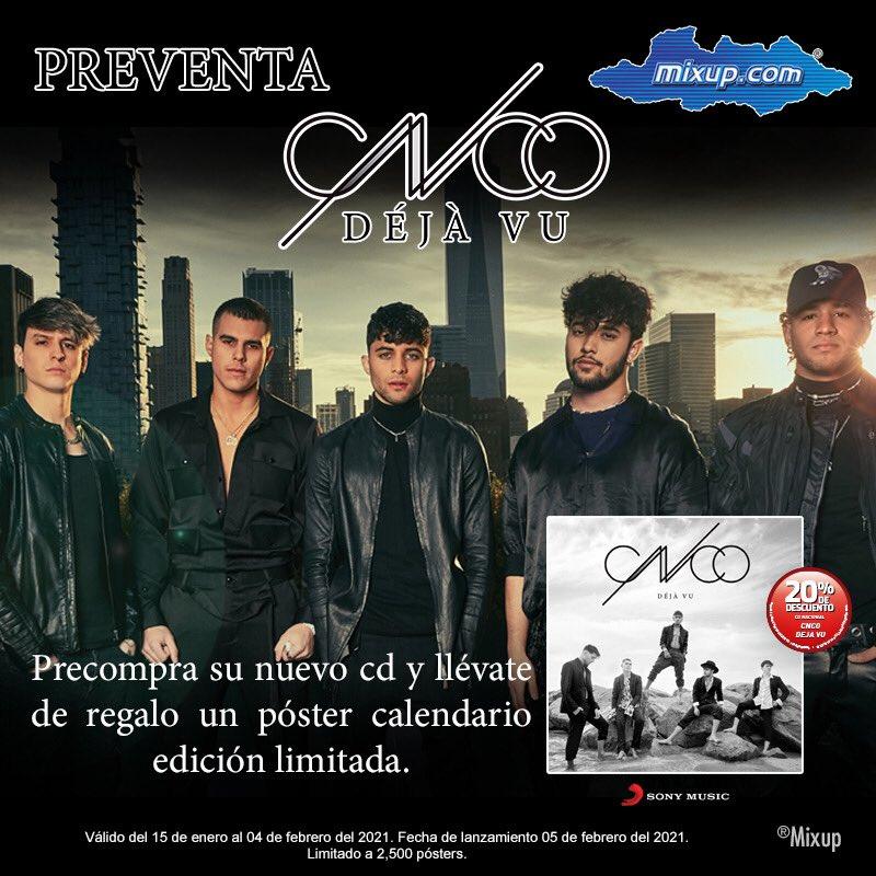 ¡Atención fans de @CNCOmusic! 😱😍   Ya tenemos la preventa de #DejaVu:    Llévate de regalo un calendario edición limitada. 🙌🏼👏🏻