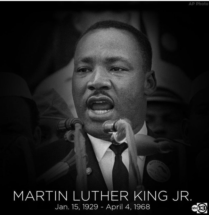 """"""" I have decided to stick with love. Hate is too great a burden to bear."""" Remembering Dr. Martin Luther King Junior, would've turned 92 years old today. Rest in power, Dr. King. Thank you for changing our world. @abc13houston"""
