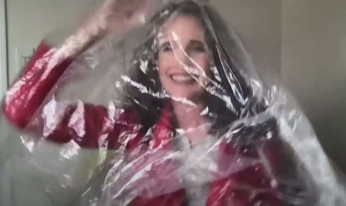 Why is Andie MacDowell in a plastic bag, you're wondering?  Here's your answer: