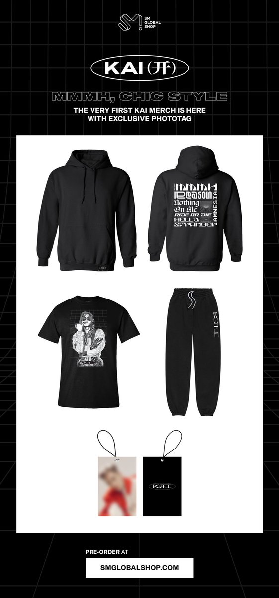 Mmmh, chic style. The very First KAI Merch is here with Exclusive Phototag🌟  🔗   #카이 #KAI  #엑소 #EXO #weareoneEXO #开 #음 #Mmmh #SMGlobalShop #SGS