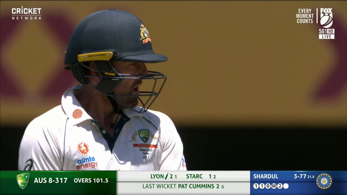 How's this for a reception for @NathLyon421! 😍  #AUSvIND |