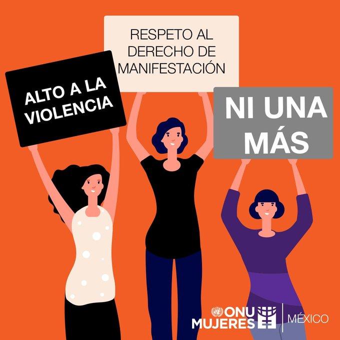 La violencia no beneficia a nadie, la represión nunca es la mejor respuesta. #niunamenos