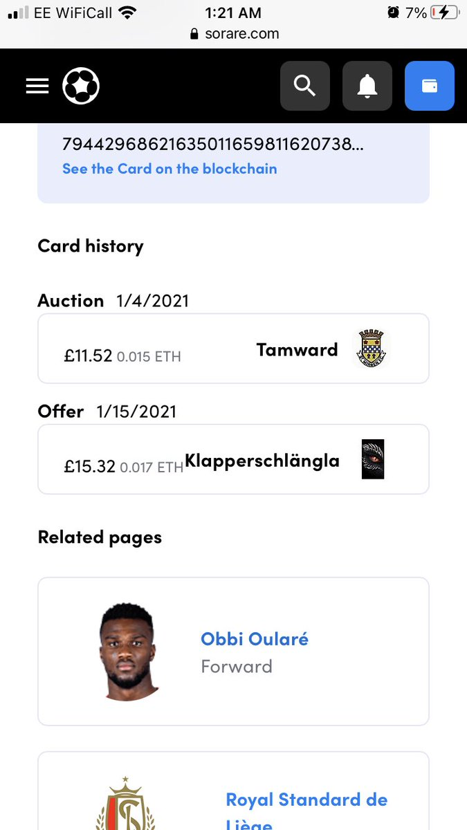 Started off a few months ago, completely oblivious to what sorare was really about. I deposited an initial £50 and had no goalkeeper which was causing me plenty of problems. By buying low/selling high I have managed to creep up around £100 which includes the ETH increase #sorare