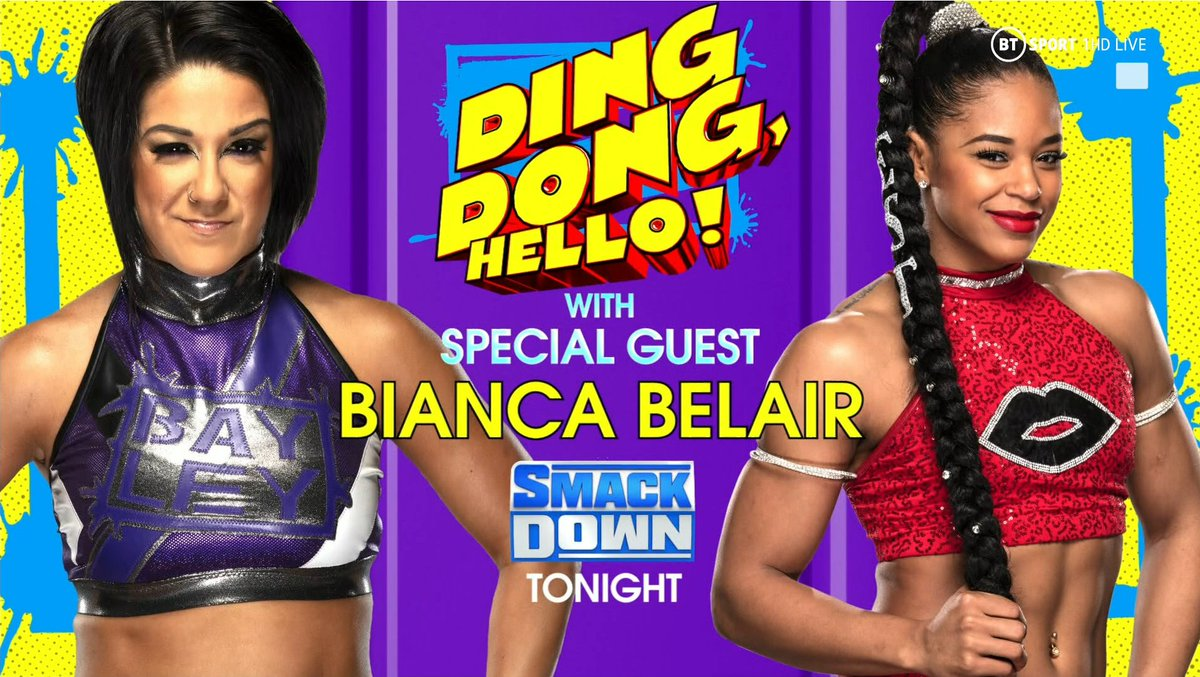 Bayley is the host of Ding Dong, Hello!