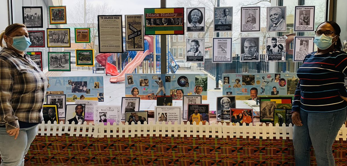 Black History should not be resigned to one month. Let's celebrate the outstanding achievements every day! Our creative school aides created a beautiful display to showcase these feats. #BlackHistoryYear