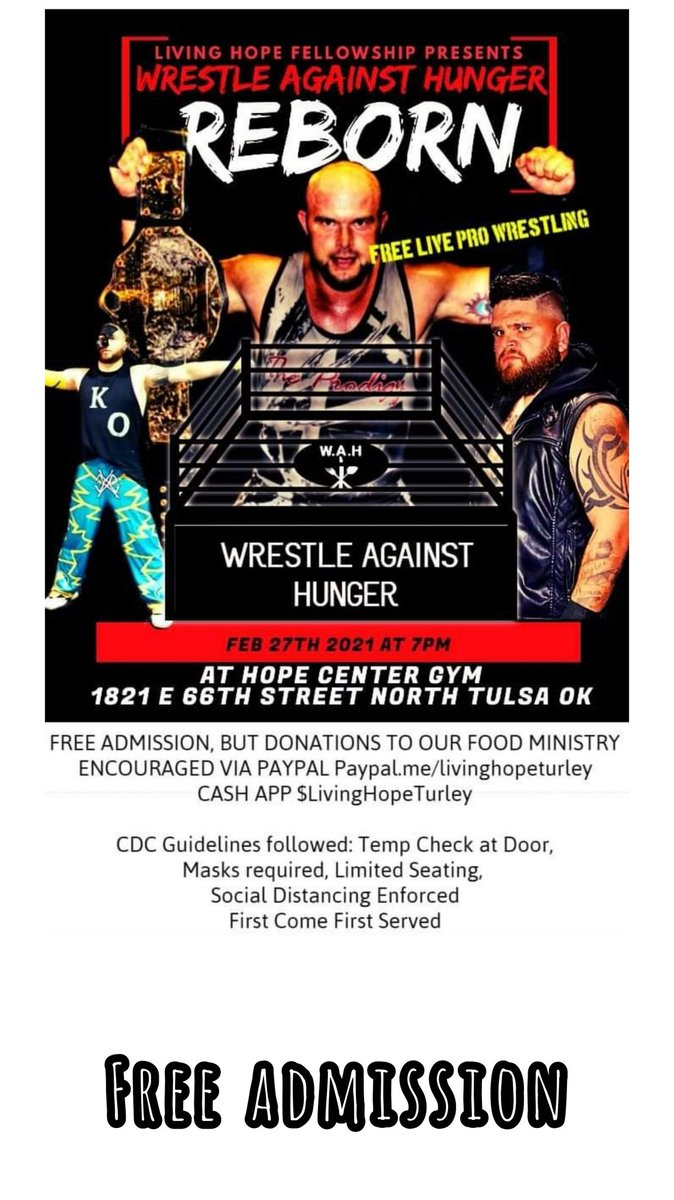 Wrestle Against Hunger!  Charity Event!!! #charity #prowrestling #WWE #AEWDark #AEWonTNT