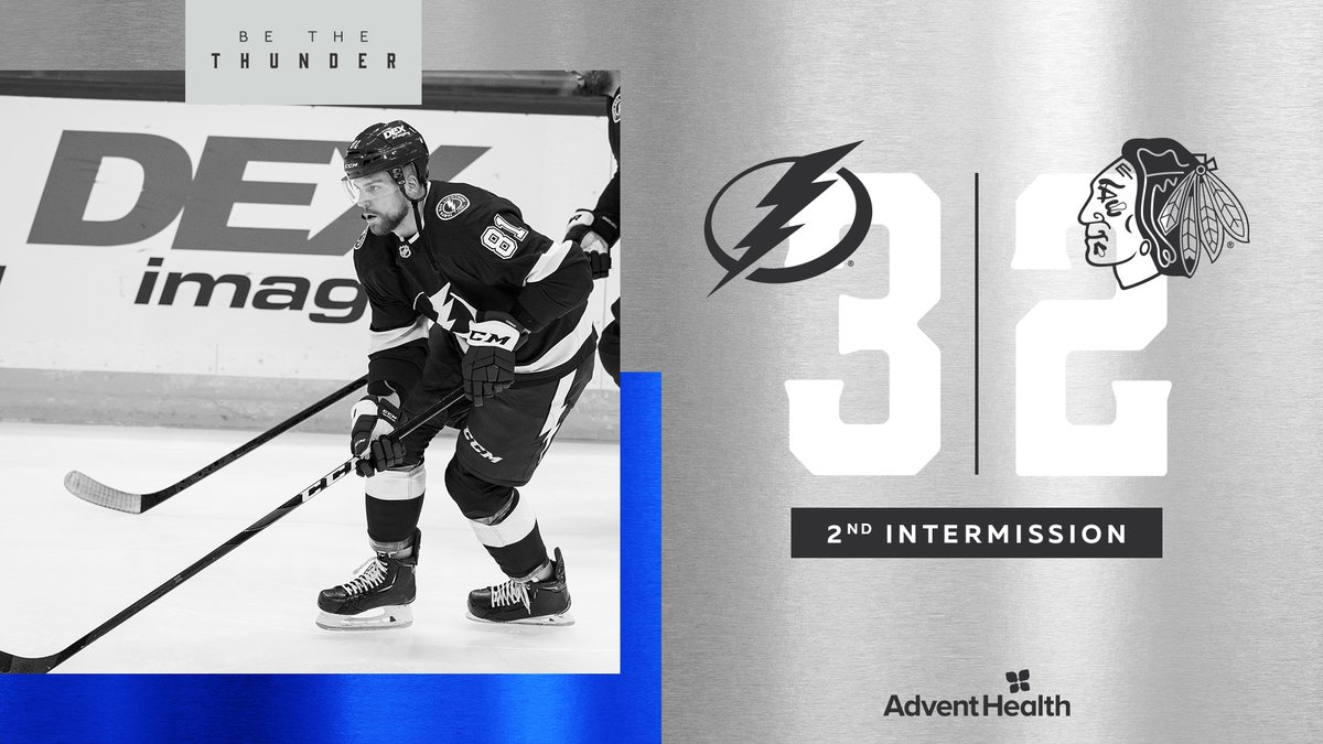 Up after two.  #CHIvsTBL | #GoBolts