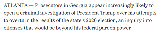 It's one thing for the Georgia Secretary of State to say the President pressured him to change the election results.  It's another thing to have it all on tape.