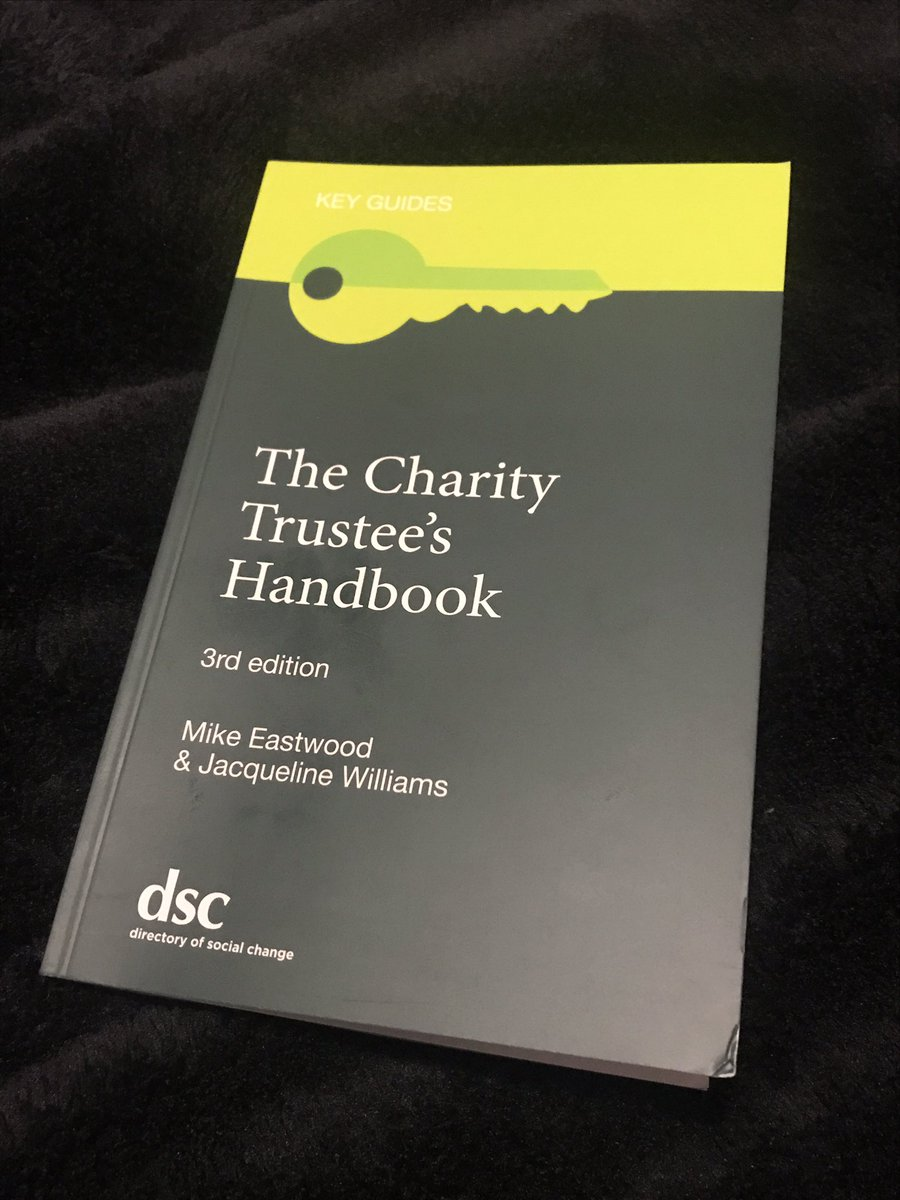 Replying to @SamSmette: As Chair at @RadioHorton, I wanted to improve/refresh my knowledge around #trusteeship & #Governance so I recently bought The #Charity #Trustee's Handbook from @DSC_Charity. A great read so far, with practical examples & easy to understand…