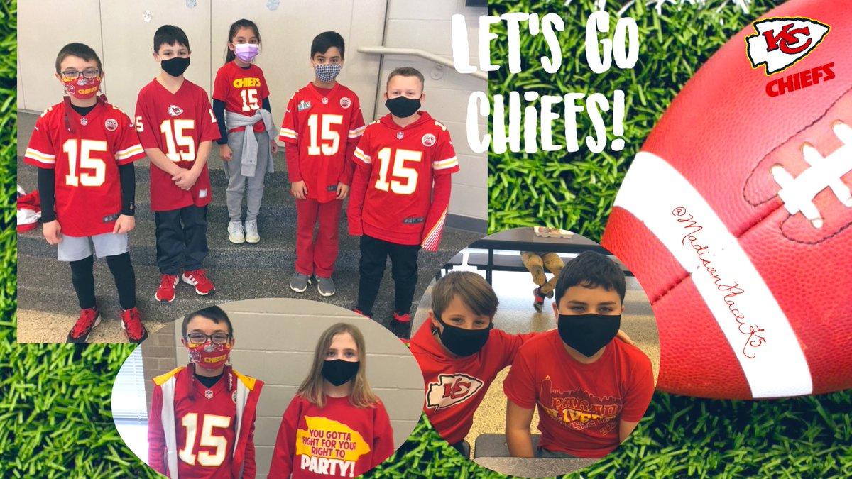 Mavericks ❤️💛❤️ the @Chiefs! #CHIEFSKINGDOM #RedFriday #4thGradeMD