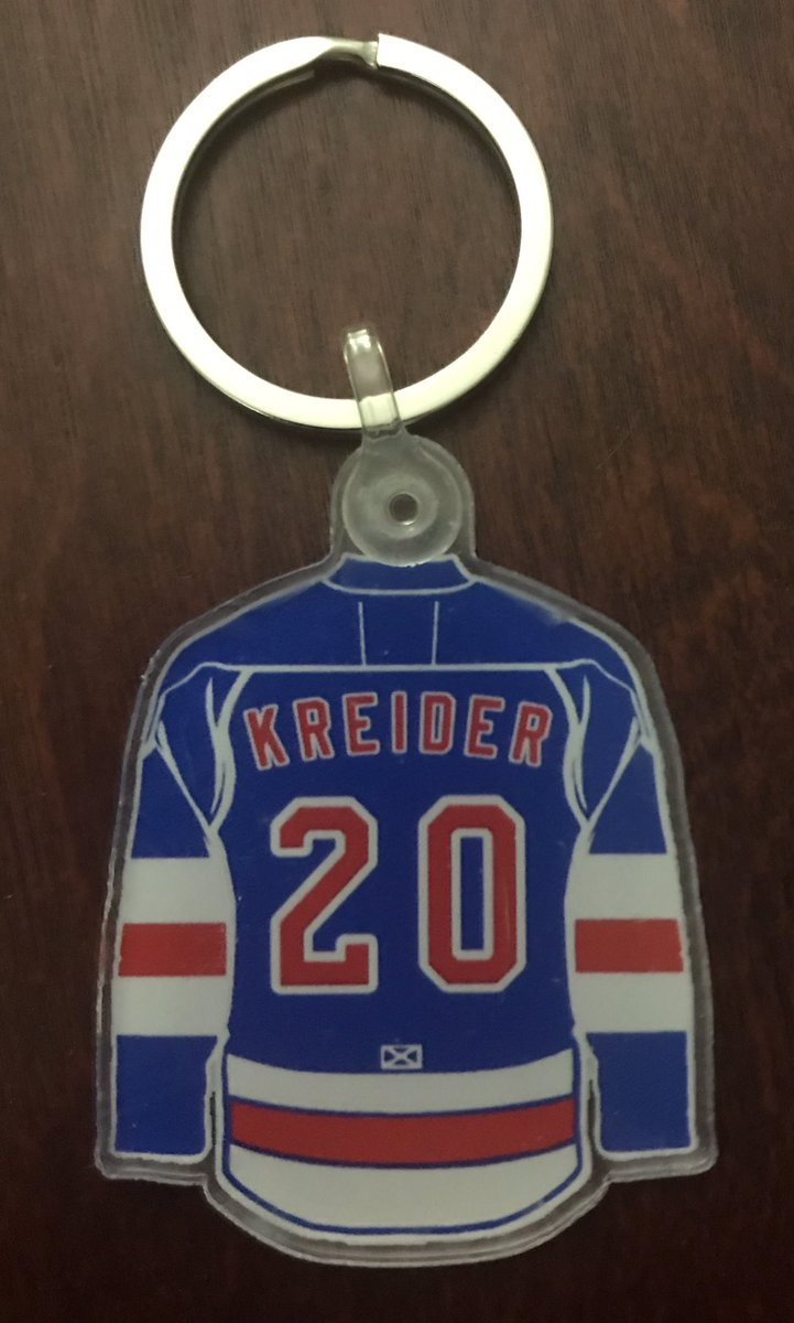 🚨RETWEET AND FOLLOW🚨  If Kreider scores Saturday vs Isles we will GIVEAWAY this keychain! #nyr