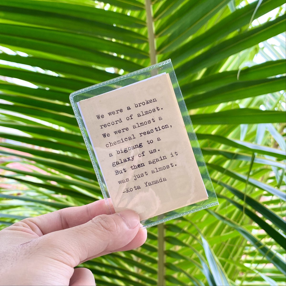 Get your very own pocket poetry! 💚 It comes in a protective sleeve and you may choose from a wide array of classics or you may get one personalized to your liking. 💚💚💚  #kotayamadaph #losthearts #poetry #poetrycommunity #poetrylovers #poetryislife #poetrysociety