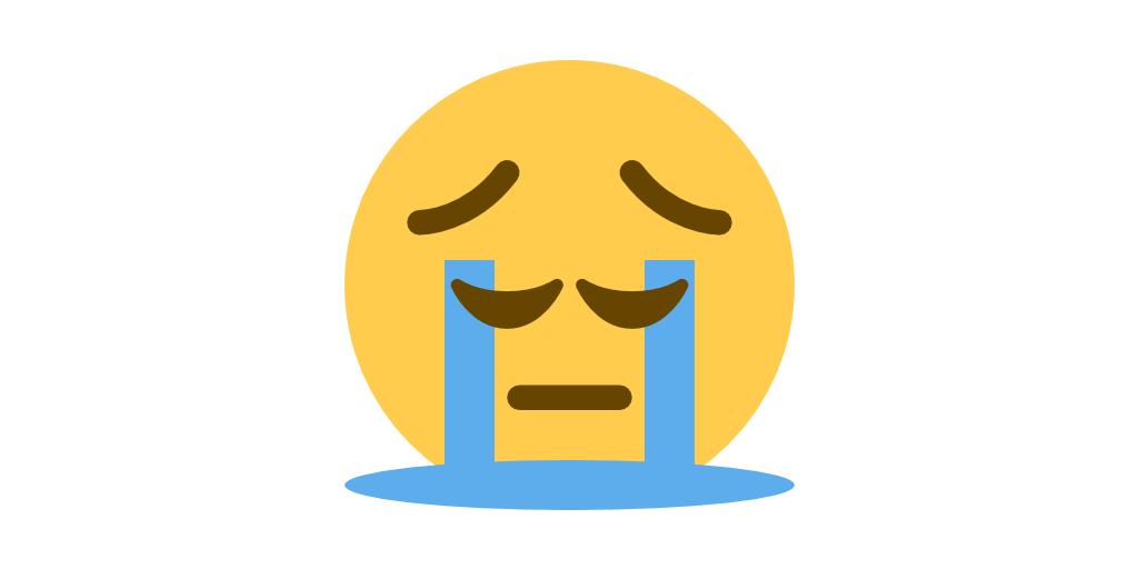Replying to @EmojiMashupBot: 😔 pensive + 😭 in-tears =