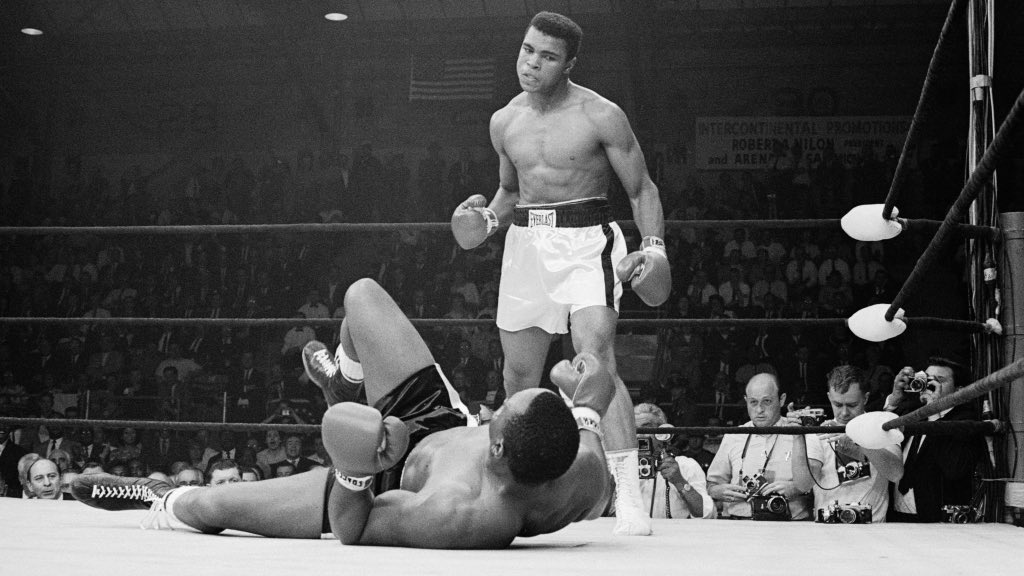 "Fun Fact: Muhammad Ali coined the iconic phrase ""float like a butterfly , sting like a bee"" after being asked how he would approach this historic match against Sonny Liston. #OneNightInMiami"