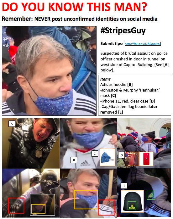 Replying to @loricahill: @RexChapman #SeditionHunters #StripesGuy