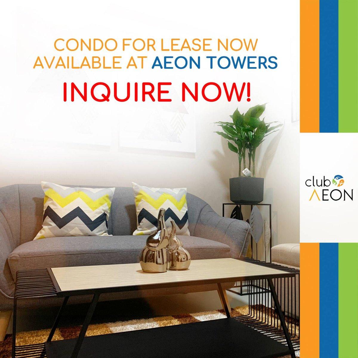 Aeon Towers now offers condo units for lease! Want to know more? Message here-->   #condounits #condo #condominium #condounitforlease #davaocity #ClubAeon #AeonTowers #AeonTowersDavao #AeonLuxeProperties #AeonLuxe #ALPI