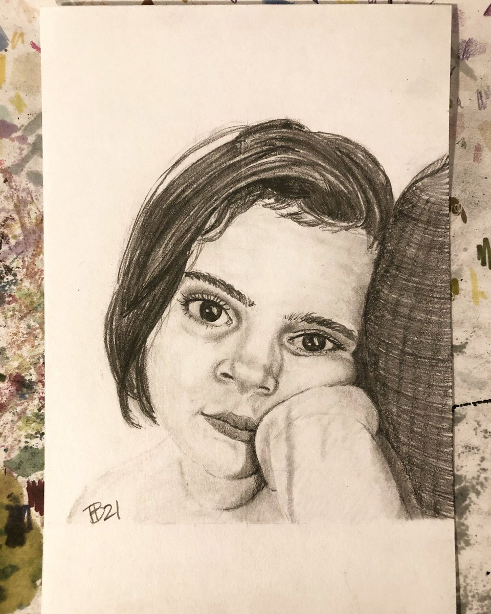 Day 15 #30faces30days and a sweet little face. Thank you @judithyaws & @sktchy  #drawing #indexcardart #pencil